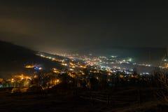 's nachts dorp Royalty-vrije Stock Afbeeldingen