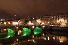 's nachts Dublin Royalty-vrije Stock Foto's