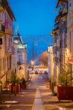 's nachts Evian -evian-les-bains Royalty-vrije Stock Afbeeldingen