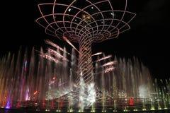 's nachts Expo Stock Fotografie
