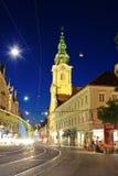 's nachts Graz. royalty-vrije stock afbeeldingen