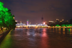 's nachts Guangzhou Stock Foto's