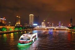 's nachts Guangzhou Royalty-vrije Stock Afbeelding