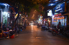 's nachts Hanoi Royalty-vrije Stock Foto