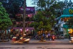 's nachts Hanoi Stock Foto