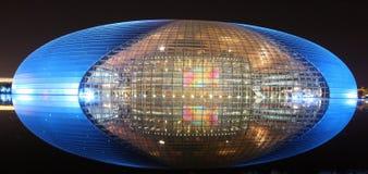 's nachts het Huis van de Opera van Peking Stock Foto