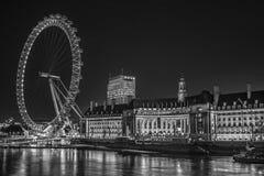 's nachts het oog van Londen Royalty-vrije Stock Foto