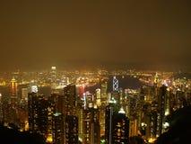 's nachts Hongkong Stock Foto's