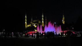 's nachts Istanboel stock video
