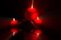 's nachts kaarsen Royalty-vrije Stock Foto's