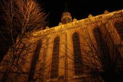 's nachts kerk Royalty-vrije Stock Foto