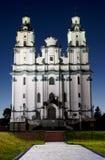's nachts kerk royalty-vrije stock afbeeldingen