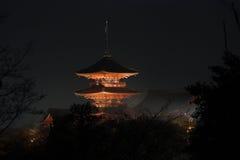 's nachts Kyoto Royalty-vrije Stock Foto's