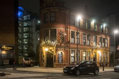 's nachts Leeds royalty-vrije stock foto