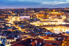 's nachts Lissabon Stock Fotografie