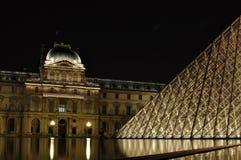 's nachts Louvre Royalty-vrije Stock Afbeelding