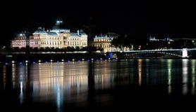 's nachts Lyon Royalty-vrije Stock Afbeeldingen