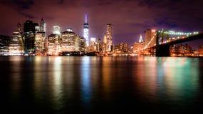 's nachts Manhattan Royalty-vrije Stock Foto