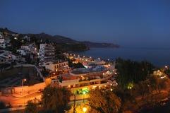 's nachts Middellandse-Zeegebied stock afbeeldingen