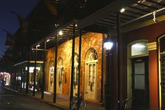 's nachts New Orleans royalty-vrije stock foto