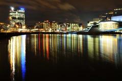 's nachts Oslo royalty-vrije stock afbeeldingen