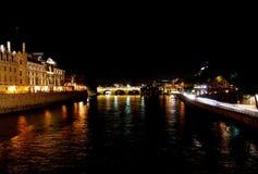 's nachts Parijs royalty-vrije stock foto