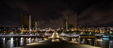 's nachts Parijs Royalty-vrije Stock Foto's