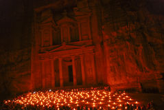's nachts Petra Royalty-vrije Stock Afbeeldingen