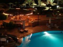 's nachts pool Stock Afbeeldingen