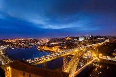 's nachts Porto royalty-vrije stock afbeelding