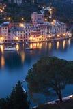 's nachts Portofino Royalty-vrije Stock Afbeeldingen