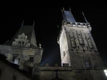 's nachts Praag Stock Foto