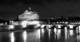 's nachts Rome. Italië Stock Foto
