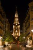 's nachts San Sebastian Stock Afbeelding