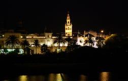 's nachts Sevilla Stock Afbeelding