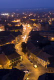 's nachts Sibiu Stock Foto