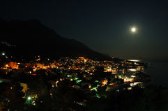's nachts stad Stock Foto