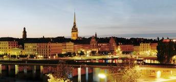 's nachts Stockholm Royalty-vrije Stock Foto's