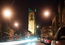 's nachts straat Stock Fotografie