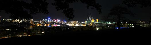 's nachts Sydney Royalty-vrije Stock Foto's