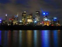 's nachts Sydney Royalty-vrije Stock Afbeeldingen