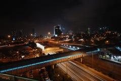 's nachts Tel Aviv Royalty-vrije Stock Foto's