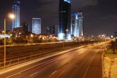 's nachts Tel Aviv royalty-vrije stock fotografie