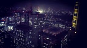 's nachts Tokyo Stock Afbeelding