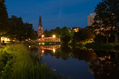 's nachts Uppsala Royalty-vrije Stock Fotografie