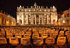 's nachts Vatikaan Royalty-vrije Stock Afbeeldingen