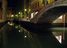 's nachts Venetië Royalty-vrije Stock Foto's