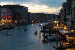 's nachts Venetië Stock Foto
