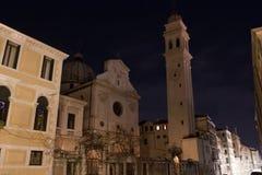 's nachts Venetië Royalty-vrije Stock Foto