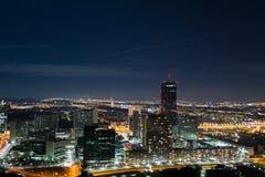 's nachts Viena Stock Afbeelding